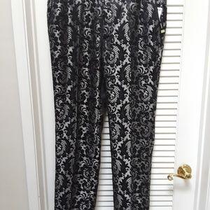INC Milan Slim Fit Lace Damask Pants 34W 32L